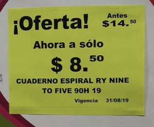 MEGA Soriana Acapulco: Cuaderno 100 hojas