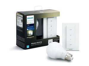 Amazon: Philips HUE LED Starter Pack, 1 Lámpara White 9.5W  + Dimmer