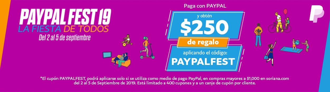 Soriana.com: $250 de descuento en compra mínima de $1,000 (pagando con PayPal)