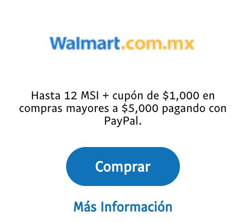 Walmart en línea: Cashback de $1,000 para segunda compra en compras mayores a $5,000 (y cashback de $500 en Super)