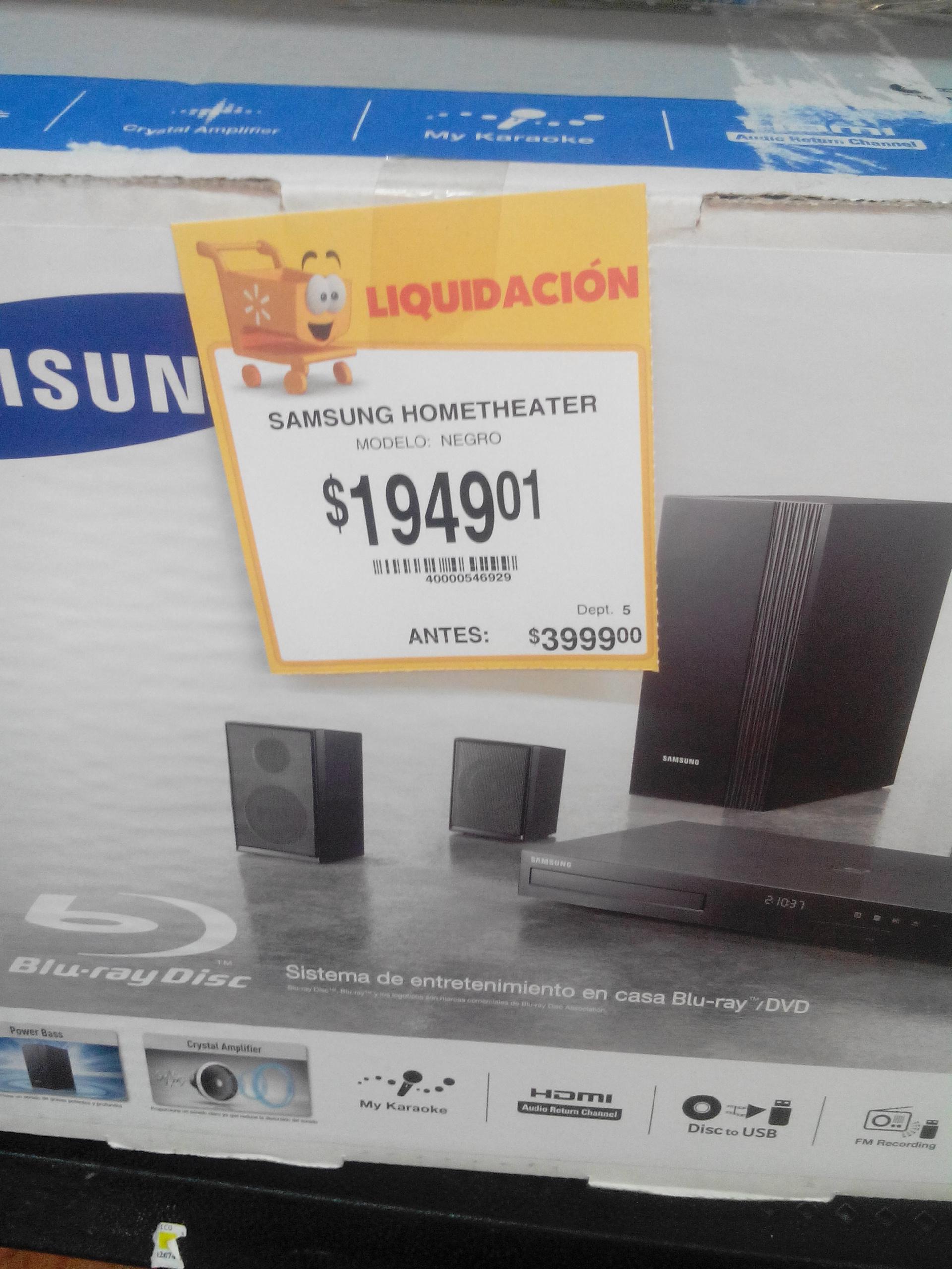 Walmart: sistema de teatro en casa Samsung HT-J5100K a $1,949.01