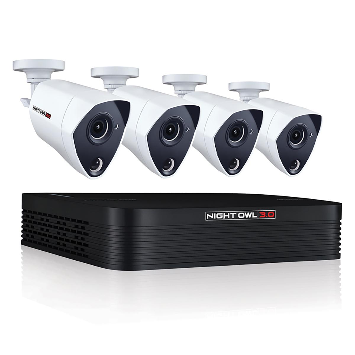 Costco: Night Owl Extreme HD sistema de seguridad 8 canales 4 cámaras PIR 3MP de alta definición