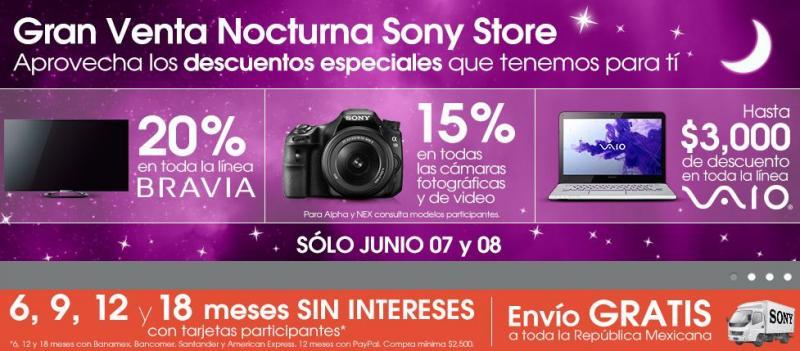 Venta Nocturna Sony Store 7 y 8 de junio