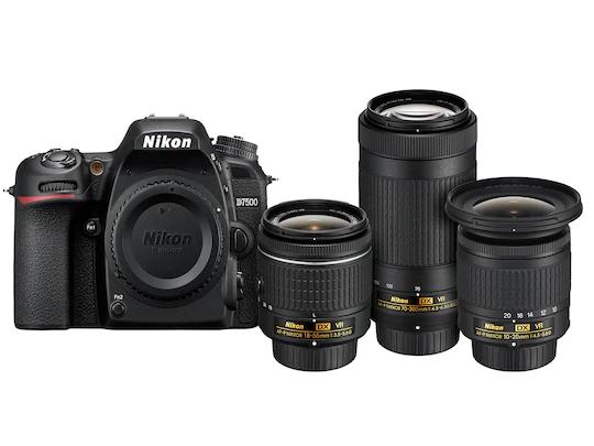 Liverpool en Línea: Cámara D7500 + Lente Nikon 18-55 mm + 70-300 mm + 10-20 mm (Paypal)