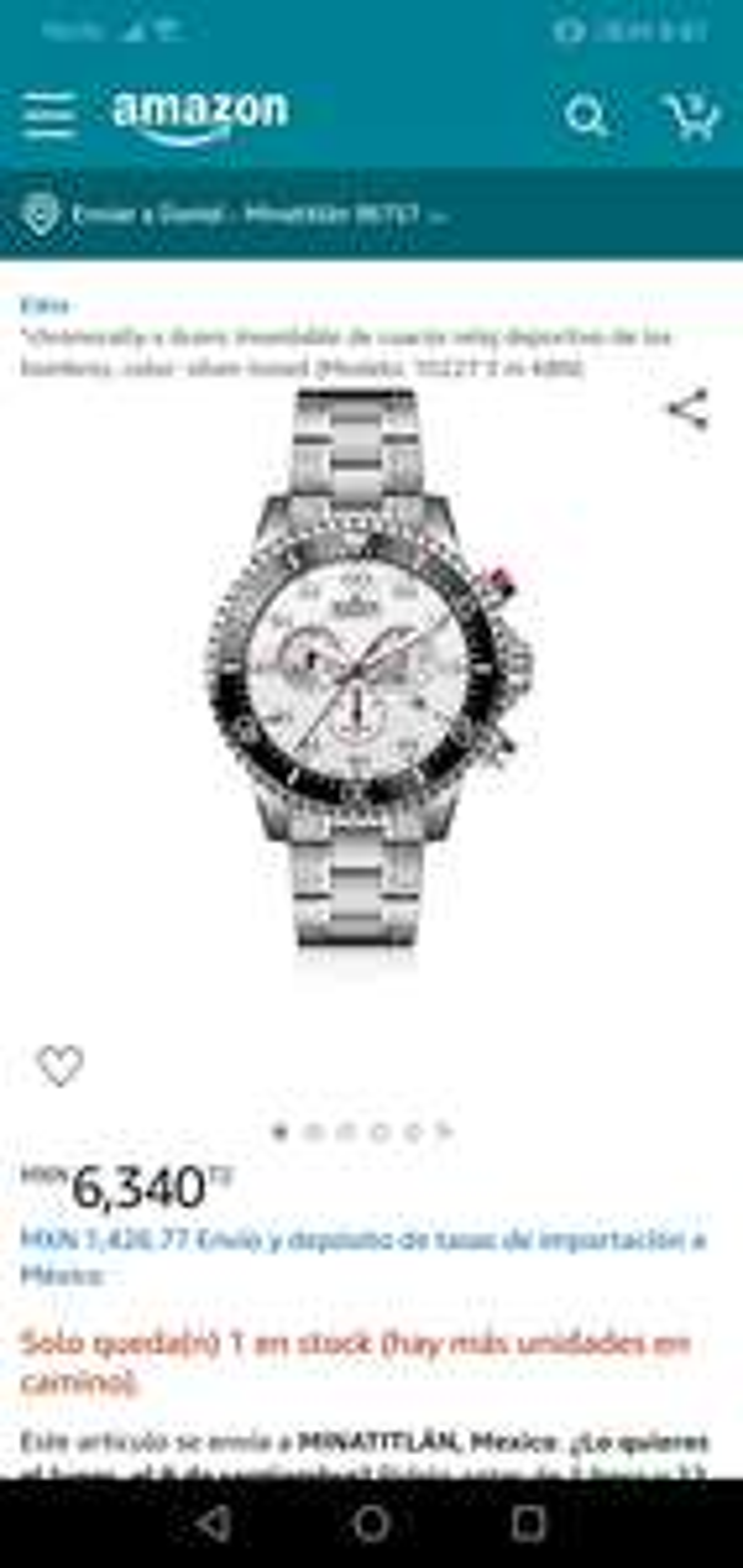 Amazon us: Oferta relojes edox