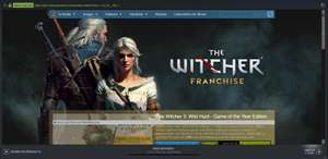 Steam: Franquicia de THE WITCHER  hasta -%80