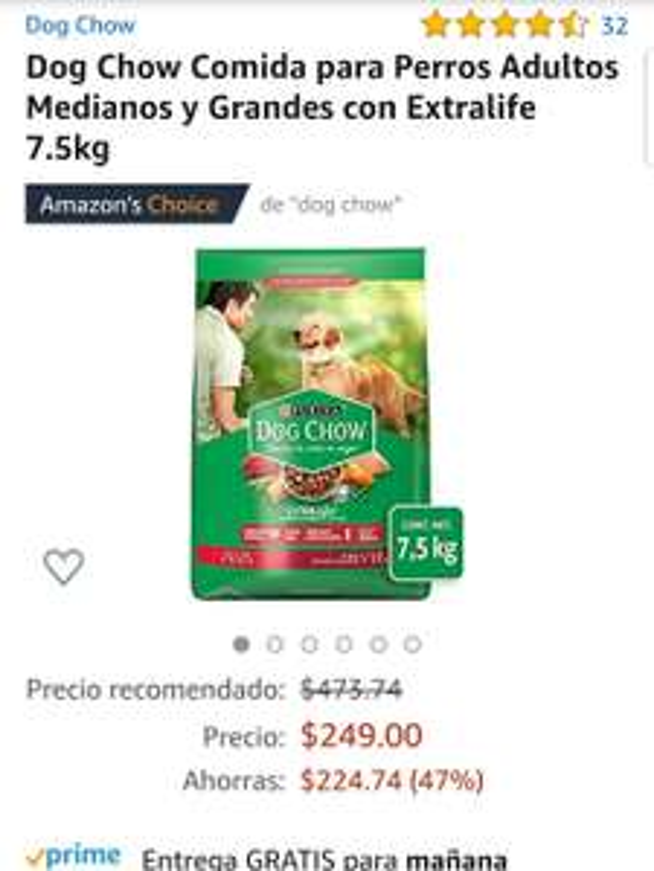 Amazon Dog chow adulto
