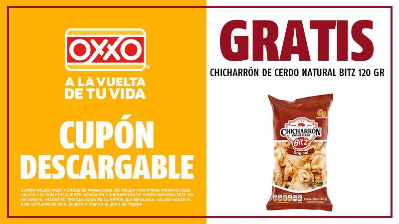 Oxxo: Chicharrón de Cerdo Natural Bits 120grs GRATIS