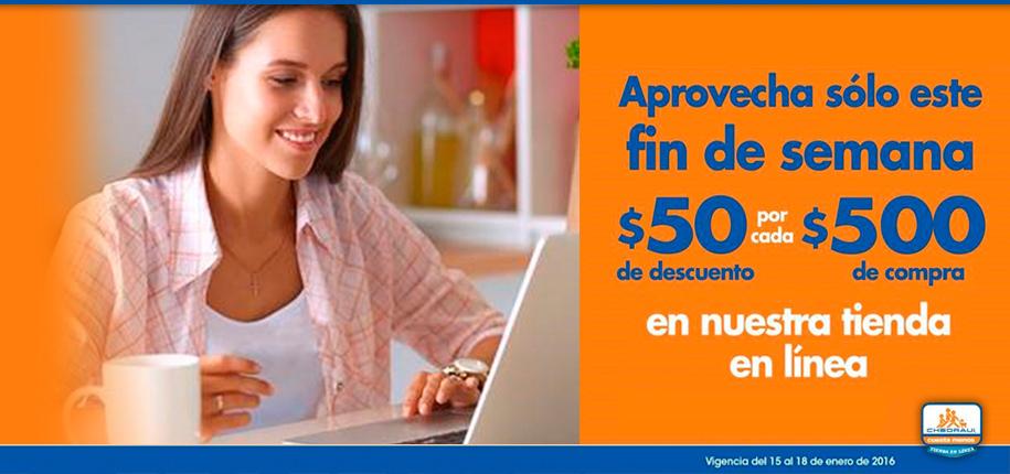 Chedraui Online: $50 de descuento por cada $500 de compra en TODA la tienda