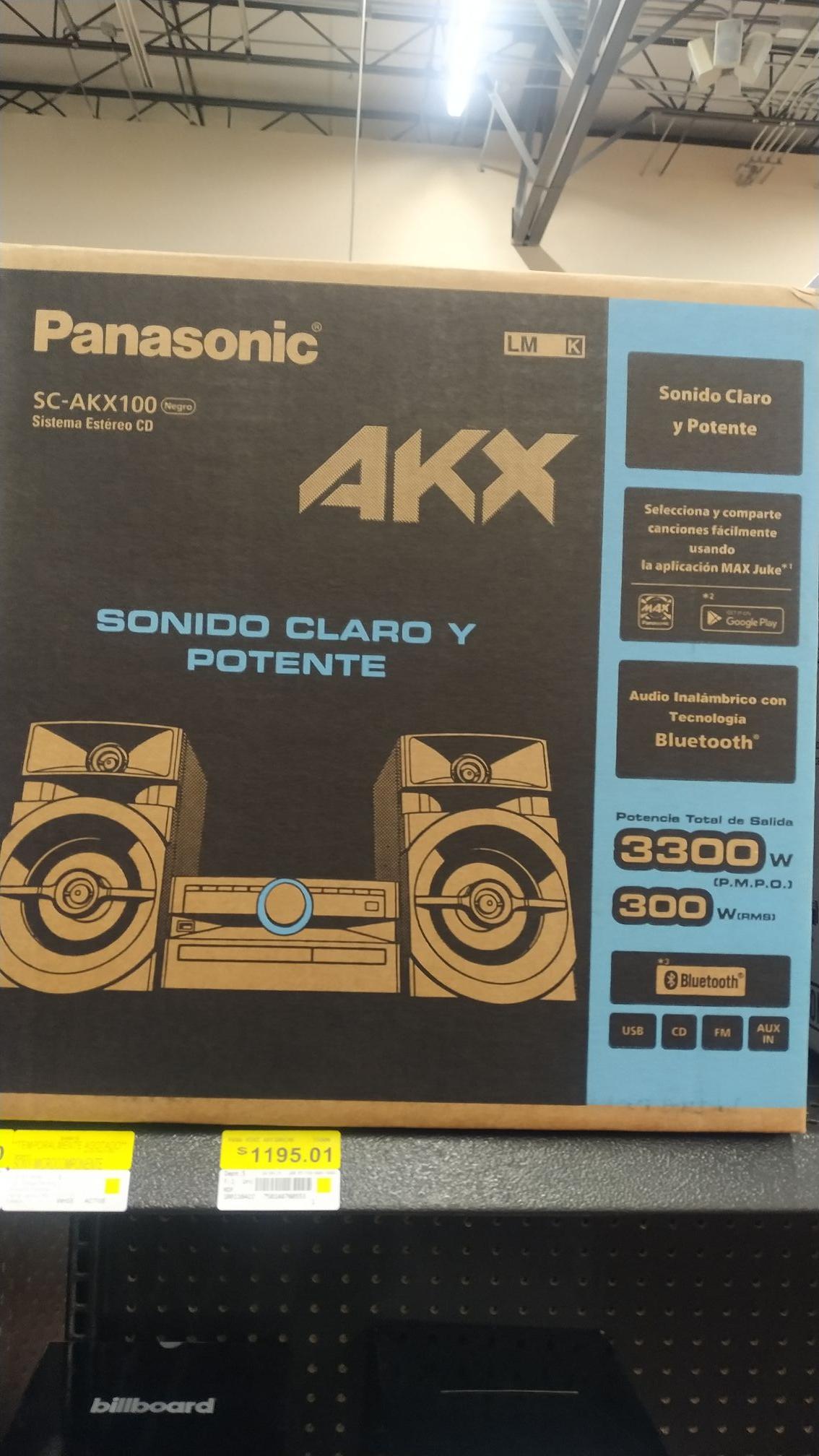 Walmart: Minicomponente Panasonic