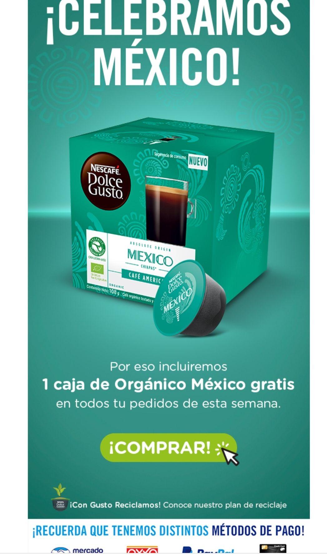 Dolce Gusto En cualquier pedido agregarán una caja de café México Dolce gusto GRATIS