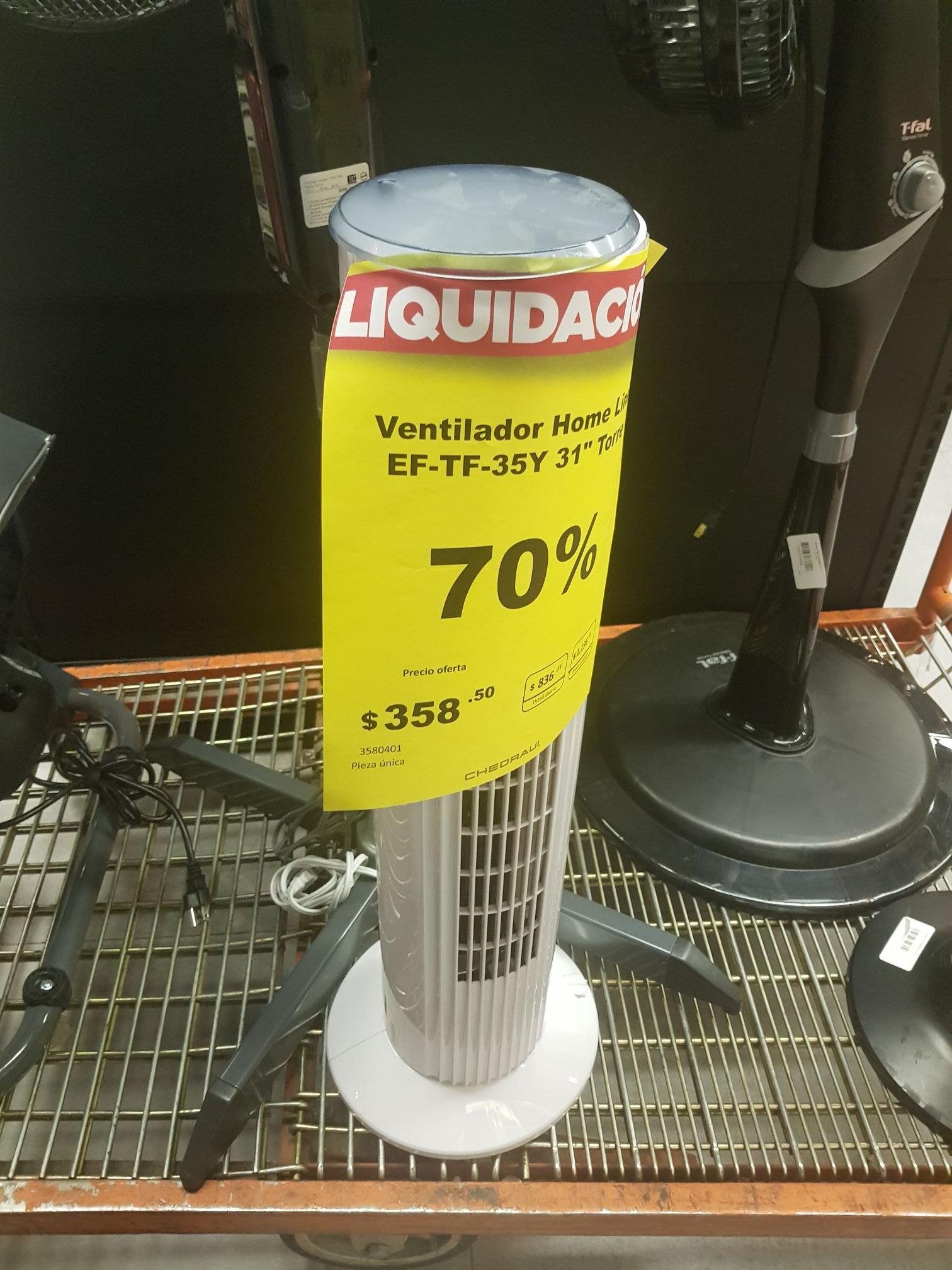 Chedraui Select Santa fe :Liquidación de ventiladores pza única 70% Desc.