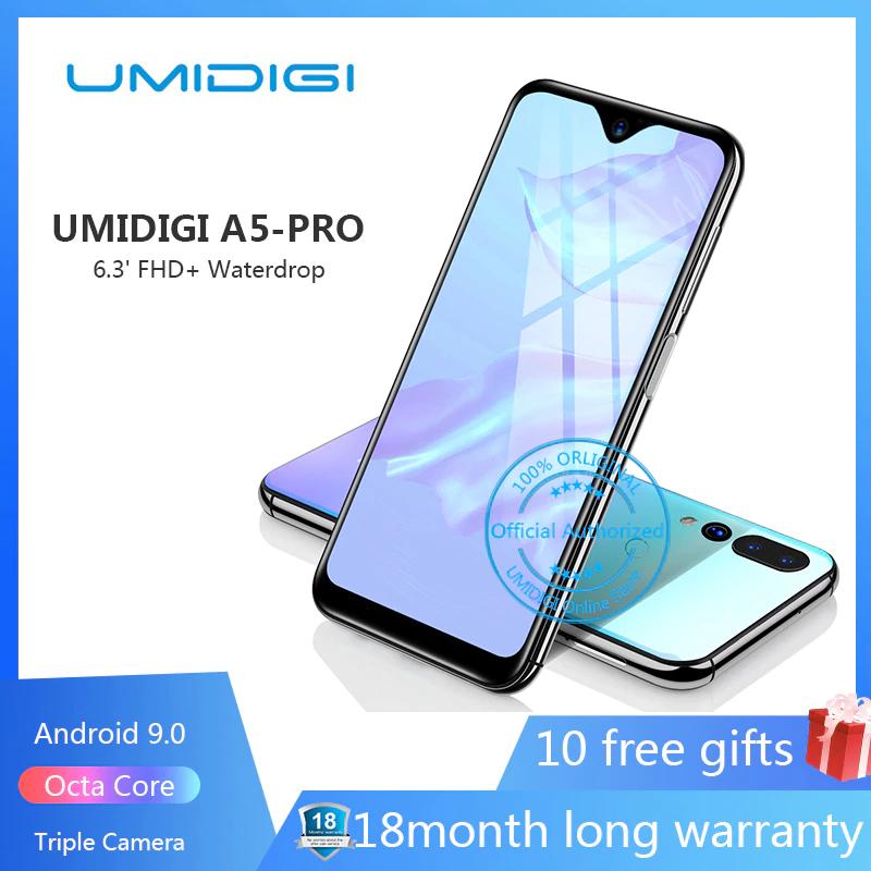 Aliexpress: UMIDIGI A5 PRO Android 9,0 Octa Core teléfono móvil 6,3 'FHD + 16MP Triple 4150mAh Cámara 4GB RAM 32G ROM