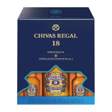 Sam's Club: Chivas 18 750 ml + 2 pachitas 200 ml c/u por menos de la mitad de precio