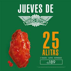 Wingstop: 25 alitas o boneless por $189