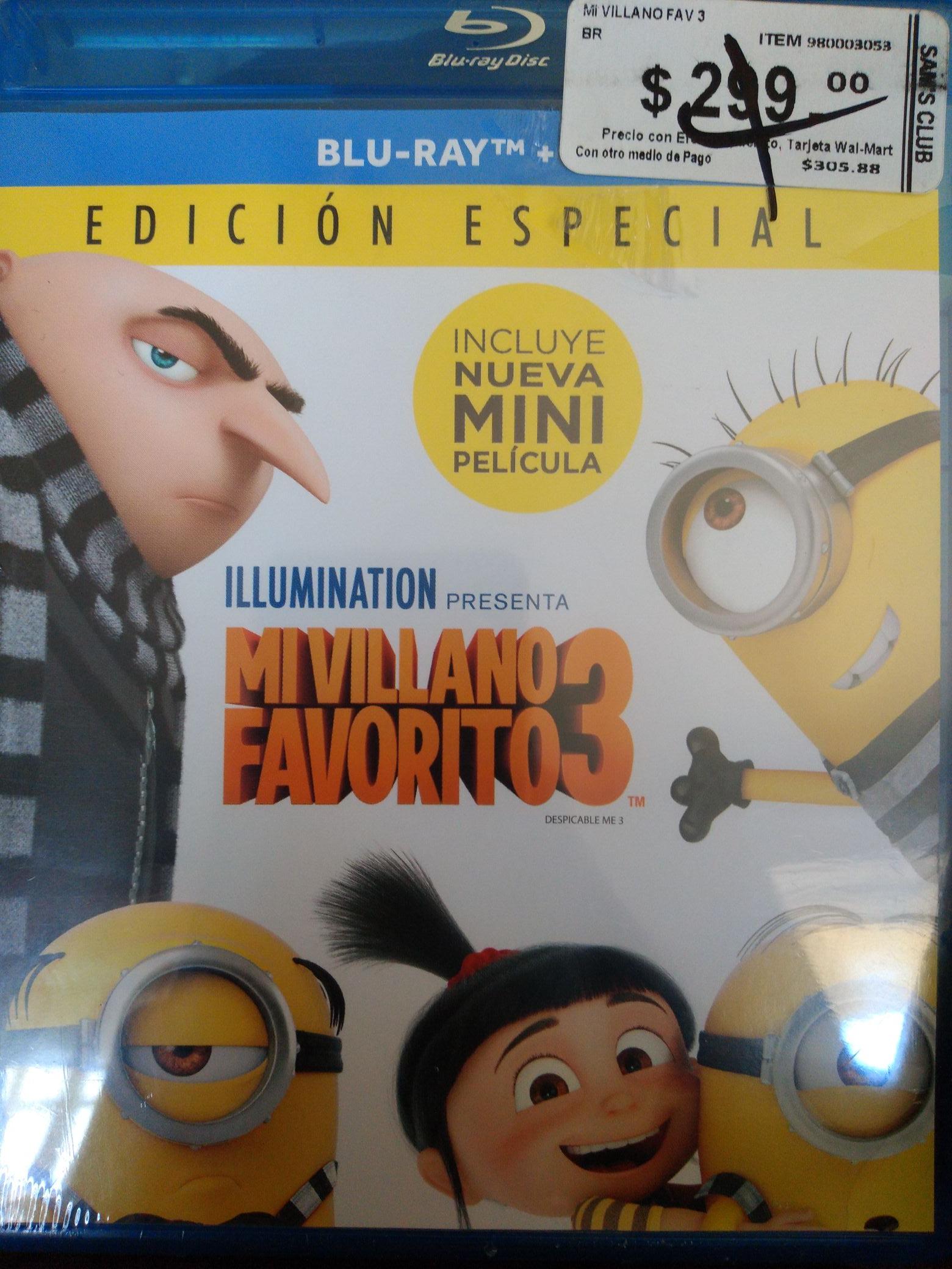 Sam's Club: Mi Villano Favorito 3 Blueray+DVD