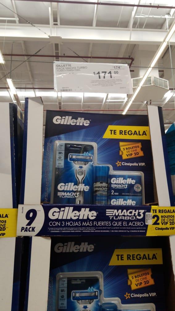 Sam's Club:  Gillette Mach 3 Turbo + 1 rastrillo+7 cartuchos+Boletos de Cine