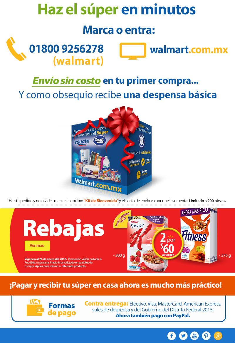 Walmart: Despensa básica gratis en tu primer compra del súper en línea