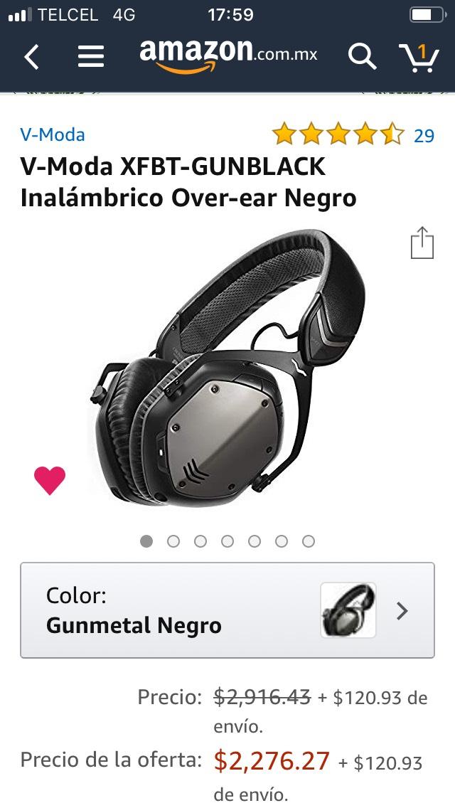 Amazon MX: Audífonos inalámbricos V-MODA (Vendido por Amazon USA)
