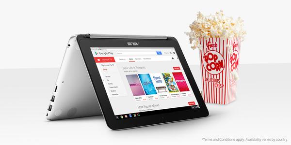 3 películas gratis comprando (o si compraste) Chromebook