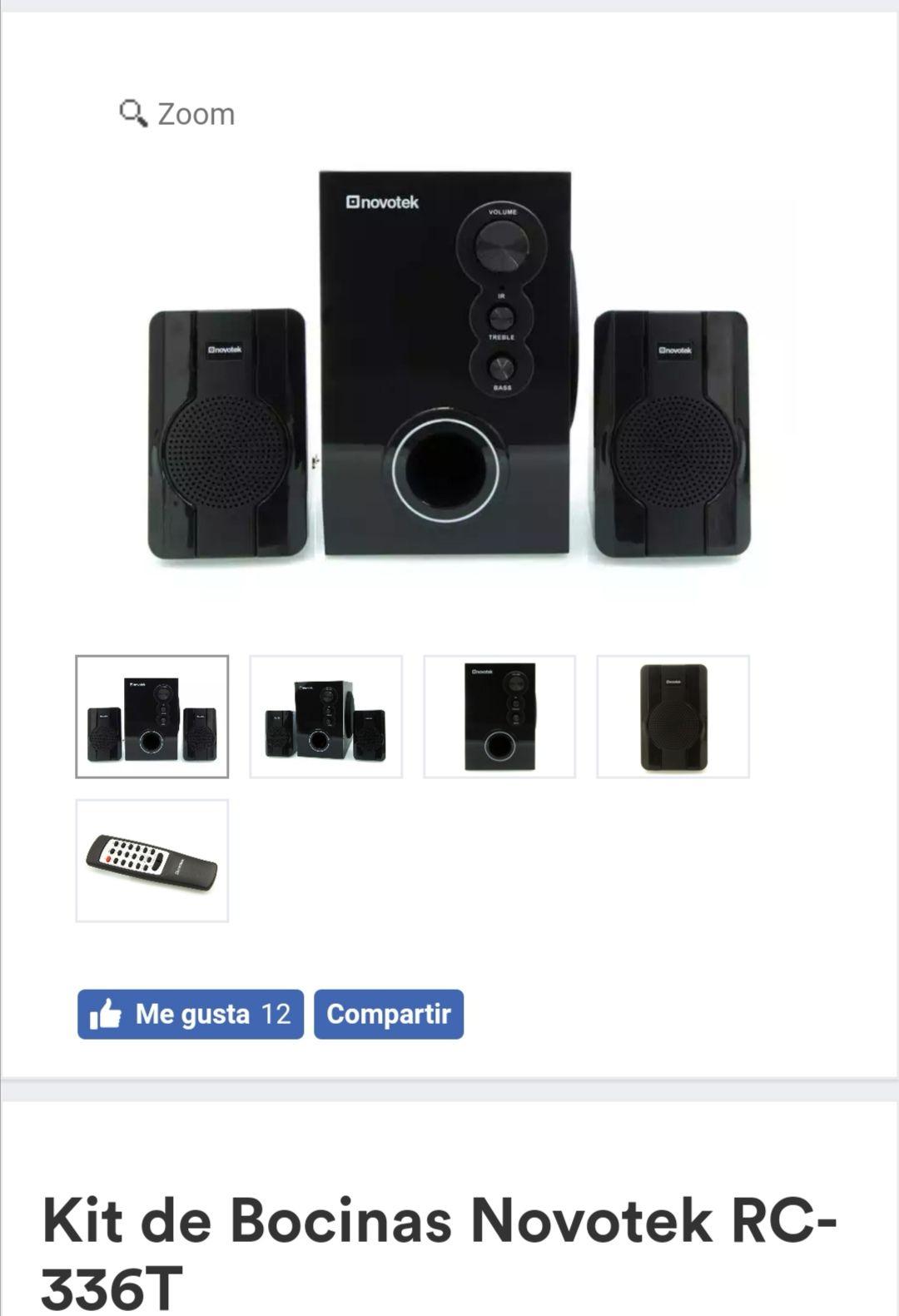 Coppel en línea: Kit de Bocinas Novotek RC-336T