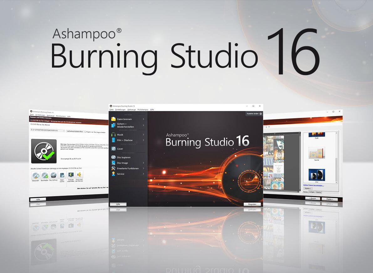 Software para Quemar CD/DVD/BR para Windows, ASHAMPOO BURNING STUDIO 16 como descarga GRATUITA cortesía de Ashampoo.