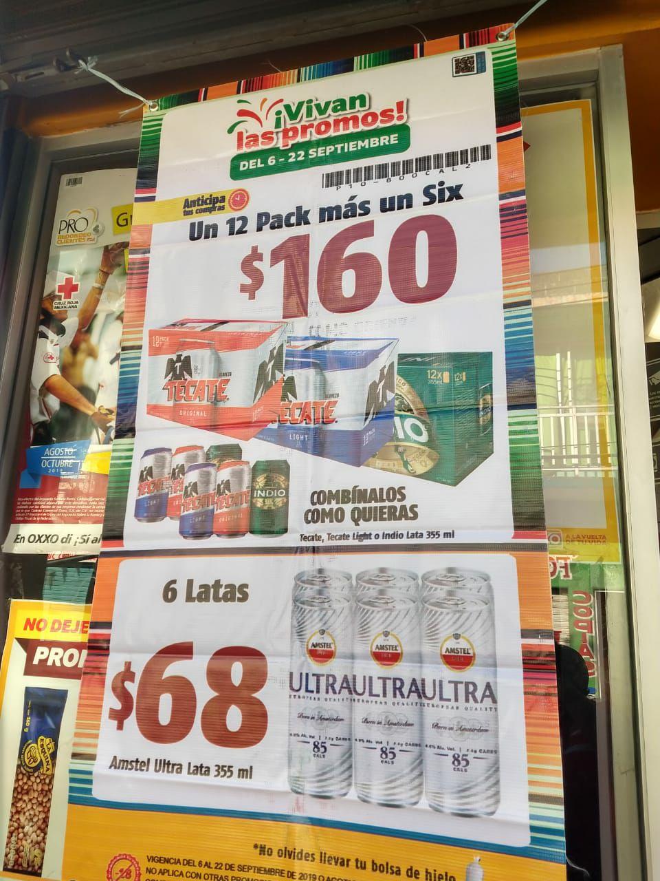 Oxxo Agua Dulce: 12-Pack mas 6-pack de Tecate o Indio