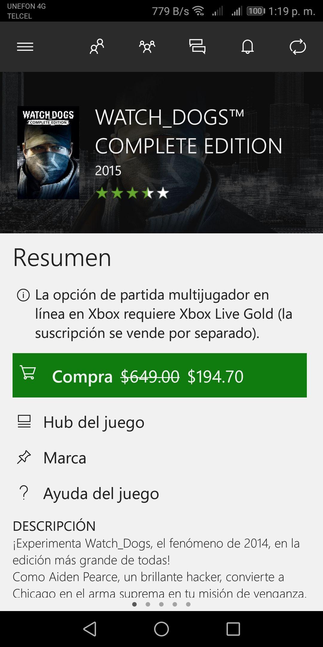 Microsoft Store: Watch dogs completa edicion
