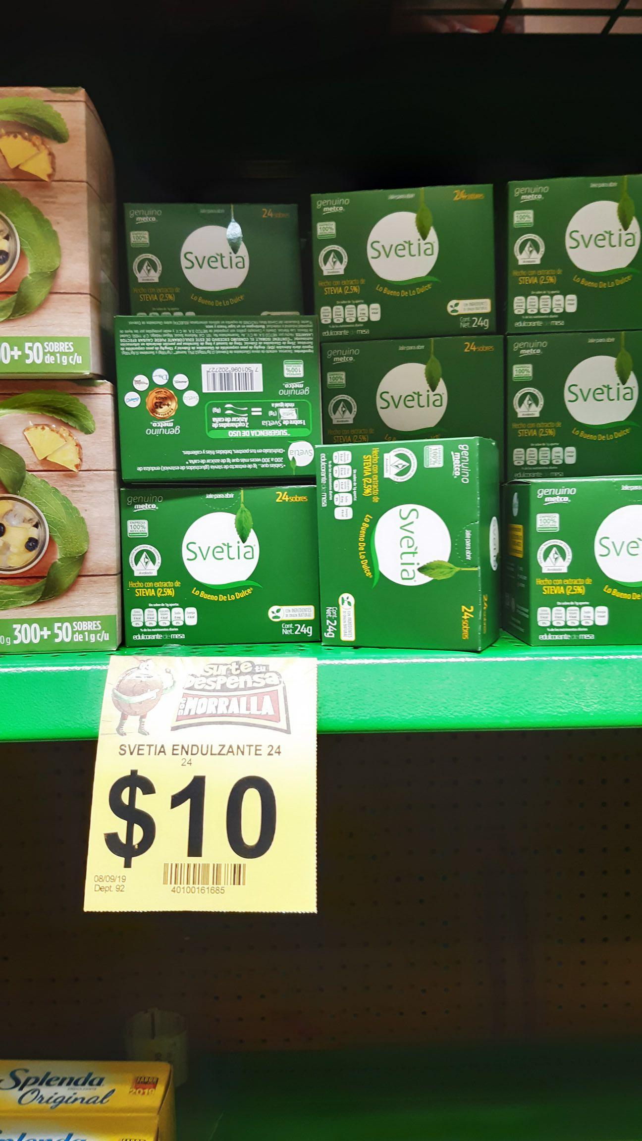 Bodega Aurrera: Stevia 24 sobres $10