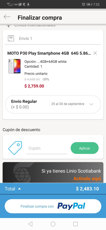 Linio: Moto P30 Play