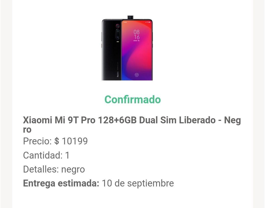 Linio: Xiaomi Mi 9T Pro 6GB/128GB (pagando con PayPal)