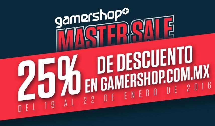 Gamershop: 25% en toda la tienda (ejemplo Mario Maker $899, Star Wars Battlefront $599)