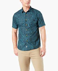 Amazon: Dockers New Short Sleeve Resort Camisa Casual para Hombre, talla grande.