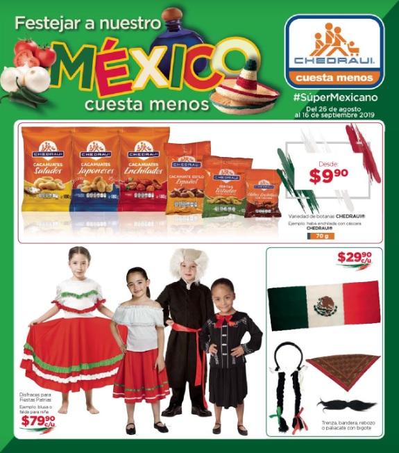 """Chedraui: Folleto de Ofertas """"Festejar a Nuestro México Cuesta Menos"""" vigente al Lunes 16 de Septiembre"""