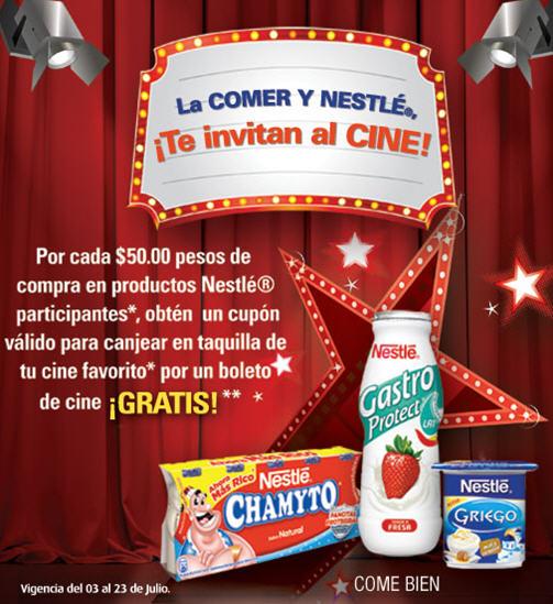 2x1 para Cinépolis comprando productos Nestlé en La Comer