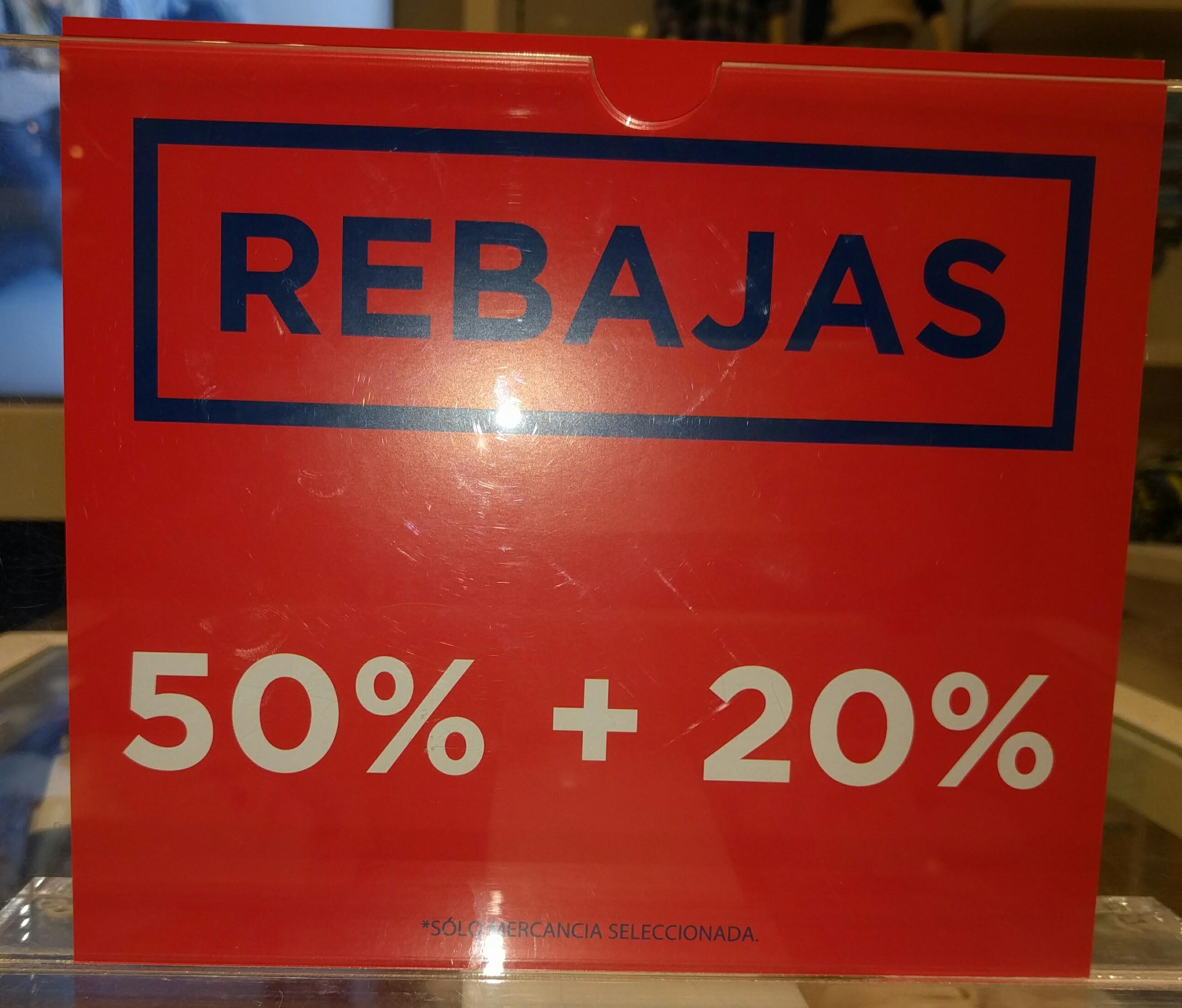 Gap: rebajas adicionales (50% + 20%)