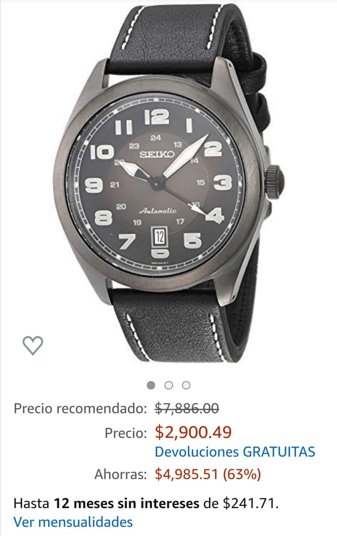 Amazon Reloj seiko automático