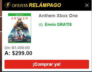 Anthem Xbox One Por Elektra