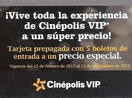 Costco: 10 boletos para Cinépolis $379 o 5 para VIP a $485