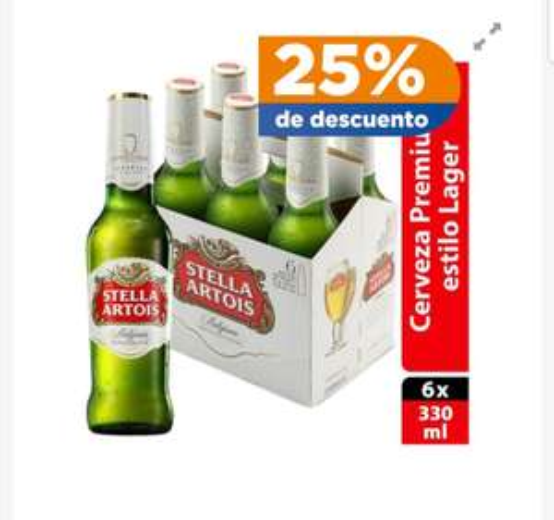 Chedraui: Six de cerveza stella artois