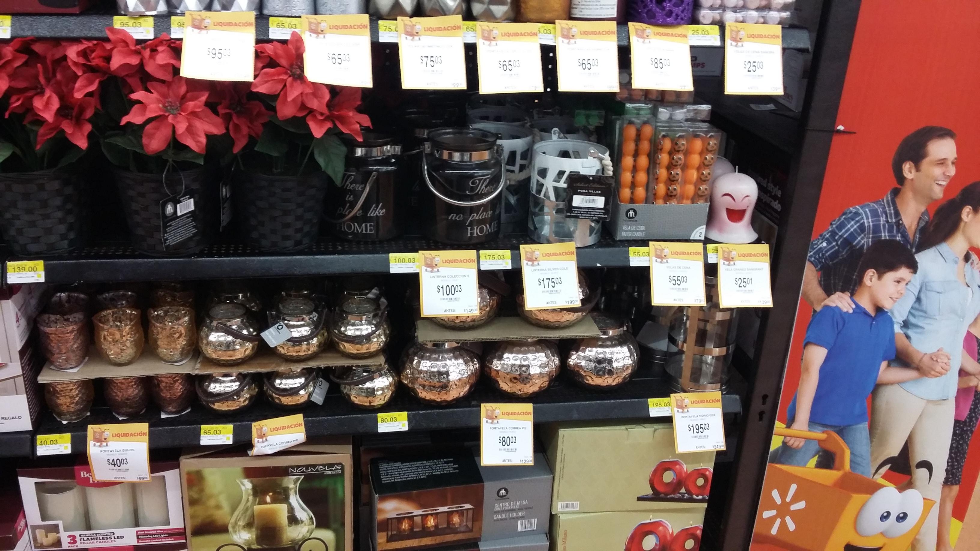 Walmart Buenavista: liquidación en diferentes artículos para el hogar