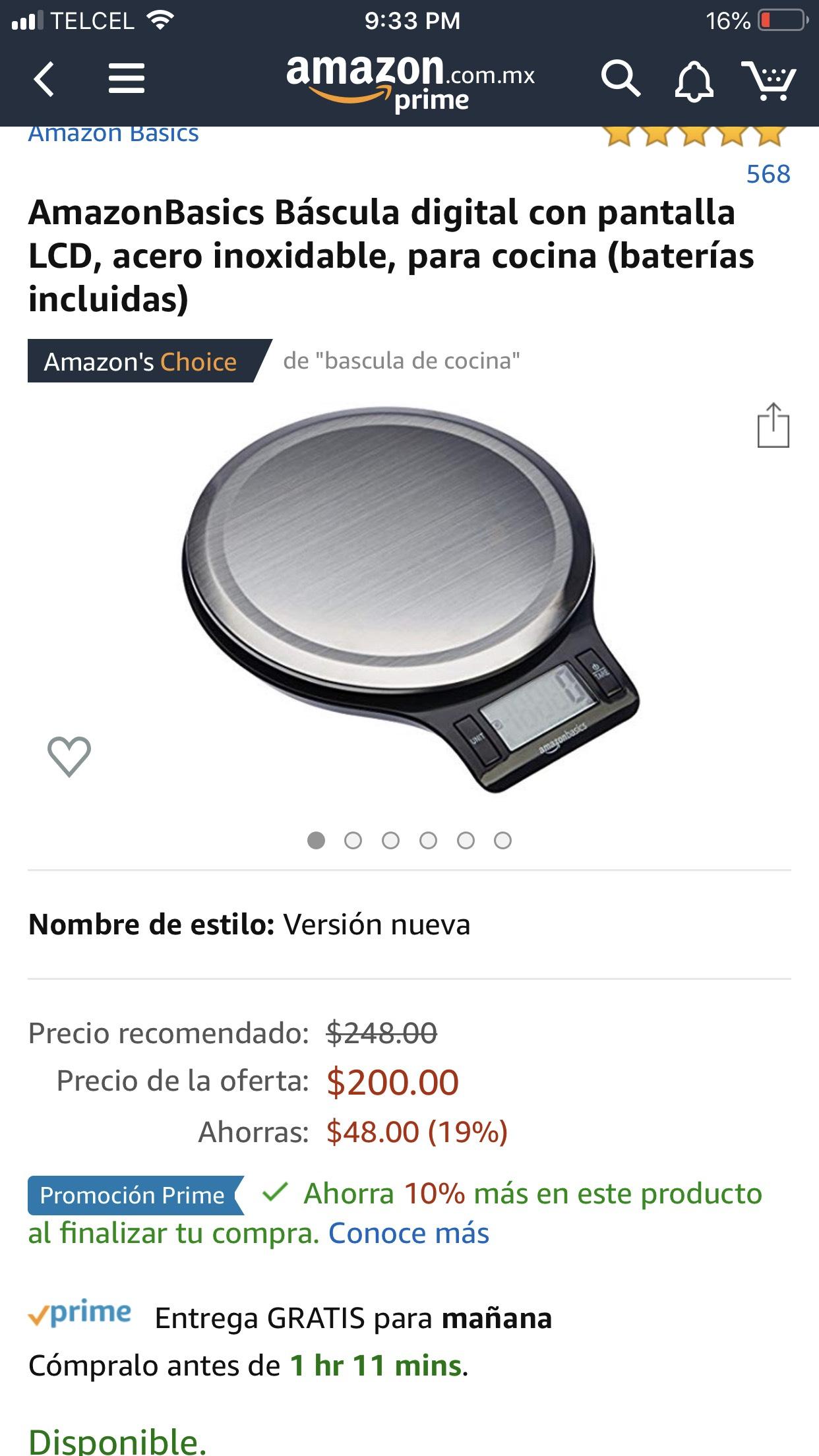 Amazon: Báscula para cocina