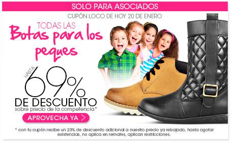 Pappomanía: hasta 69% de descuento en todas las botas para niños con cupón loco de hoy