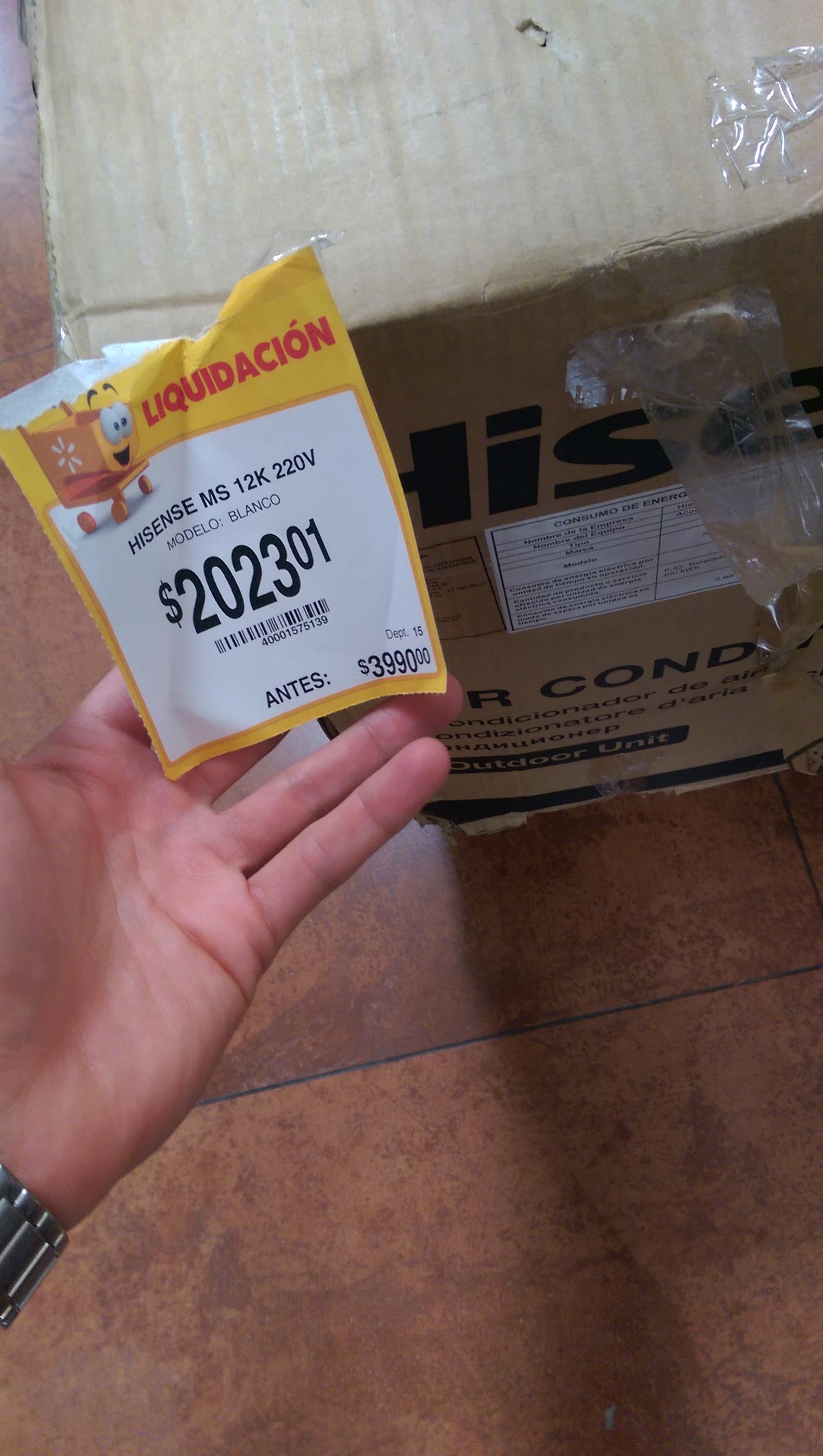 Walmart: MINI SPLIT HISENSE 12,000 BTU's 220v a $2,023 y Aire acondicionado LG de ventana 12,000 BTU's 220 V a $2,254