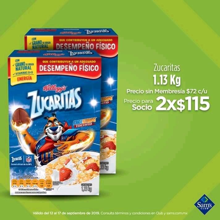Sam's Club : Cereal Zucaritas 1.130 kg 2X$115