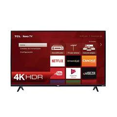 "Sanborns: Pantalla TCL 55"" Smart TV Roku TV 4K UHD (Con Santander)"