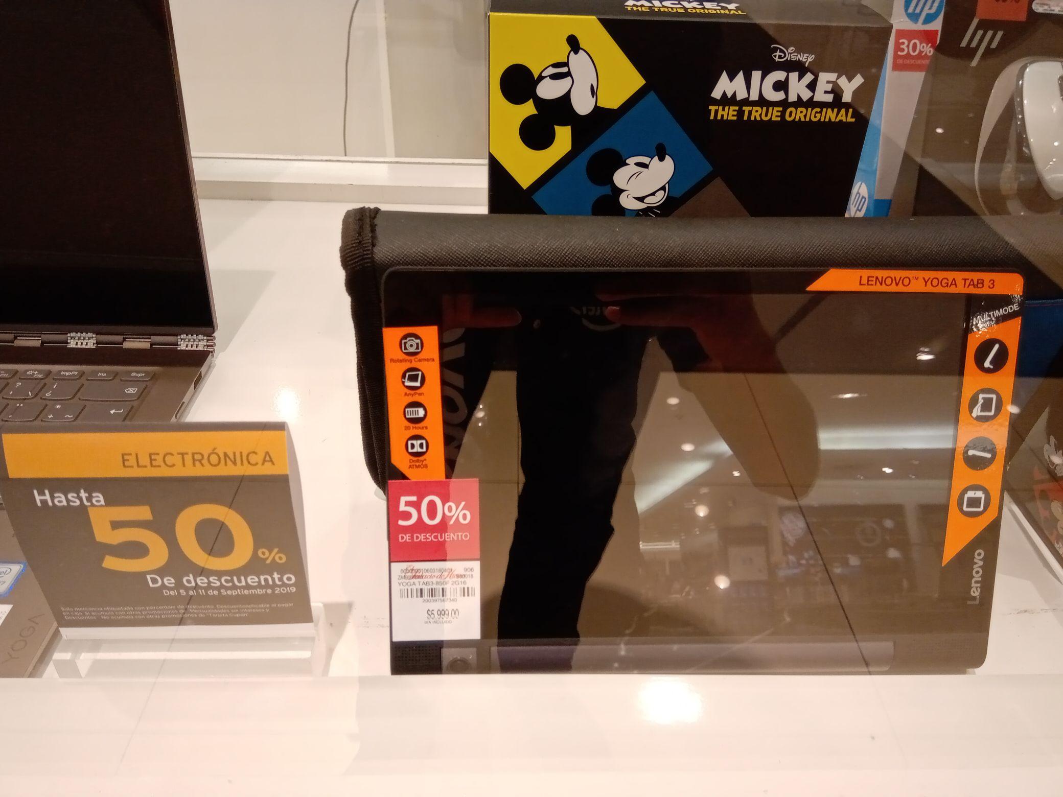 El Palacio de Hierro Guadalajara: Descuento 50% Tablet Lenovo Yoga Tab 3