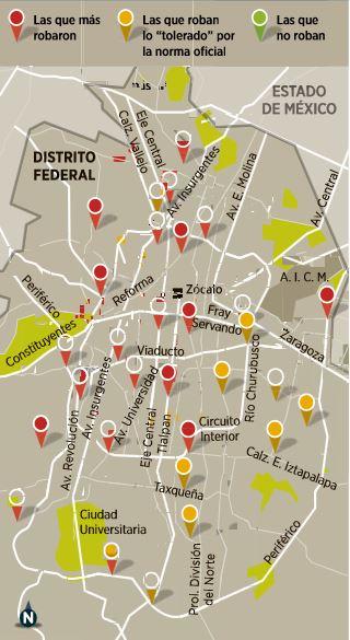 Gasolineras que dan de menos en el DF, Guadalajara y Monterrey