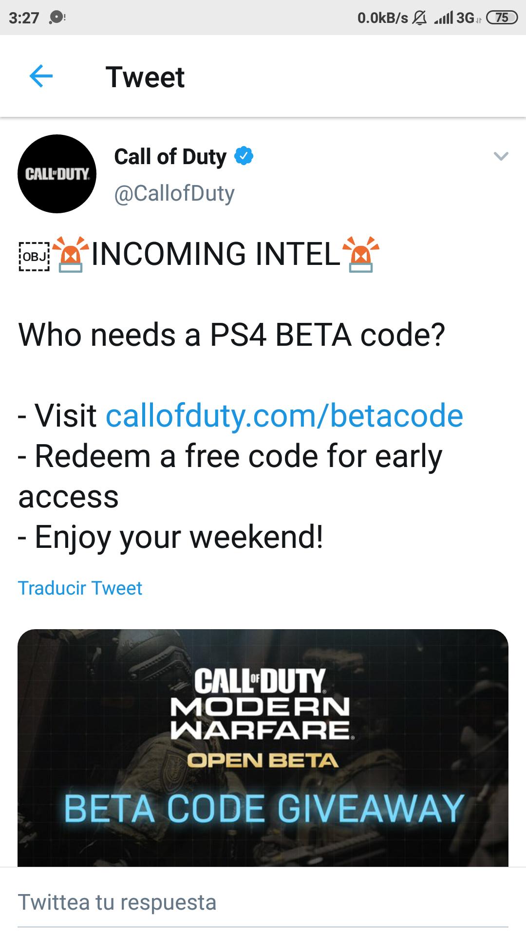 PSN Códigos CODMW PS4