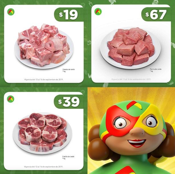 Bodega Aurrerá: Cabeza de Cerdo $19 kg... Codillo de Cerdo $39 kg... Pierna de Cerdo $67 kg.